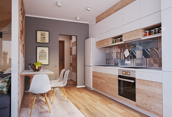 verbi apartment 61 - 430-square-foot apartment in Ukraine does not compromise on function or style