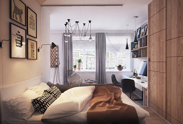 verbi apartment 7 - 430-square-foot apartment in Ukraine does not compromise on function or style