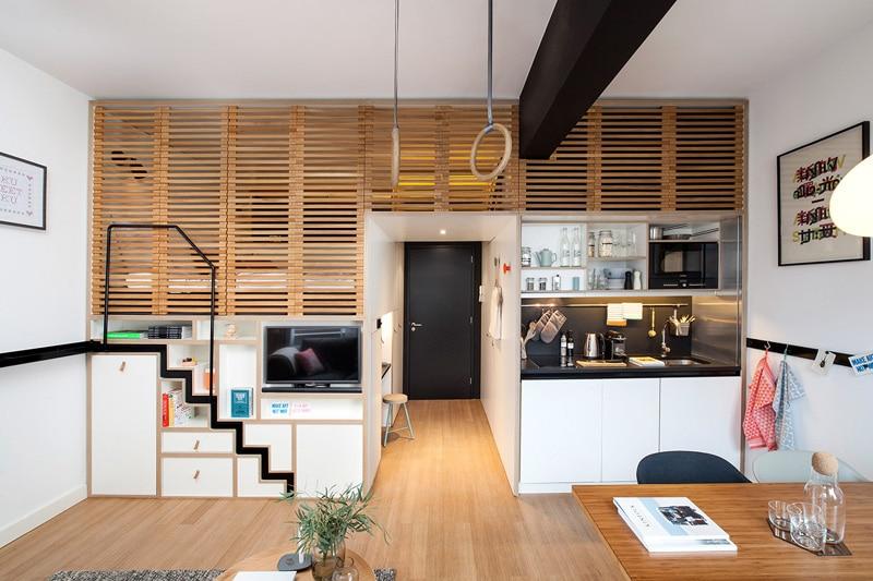 Concrete Compact Hotel Room Loft 2