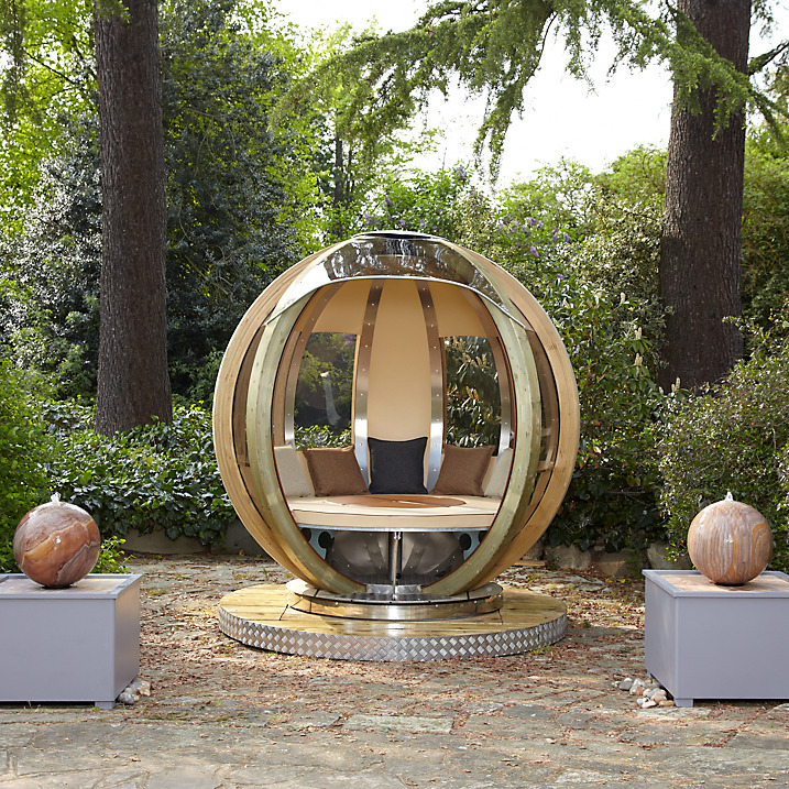 Dine And Camp In A Rotating Garden Pod Living Shoebox