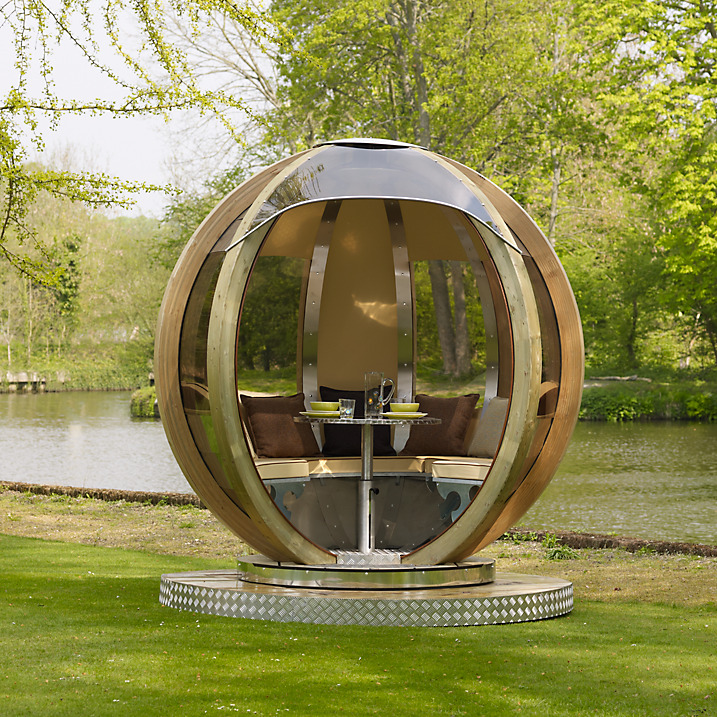 Dine And Camp In A Rotating Garden Pod Living In A Shoebox