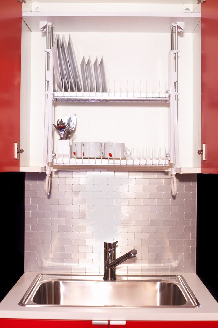 Hide your dishrack in the cabinet with the Drip Dry - Living in a ...