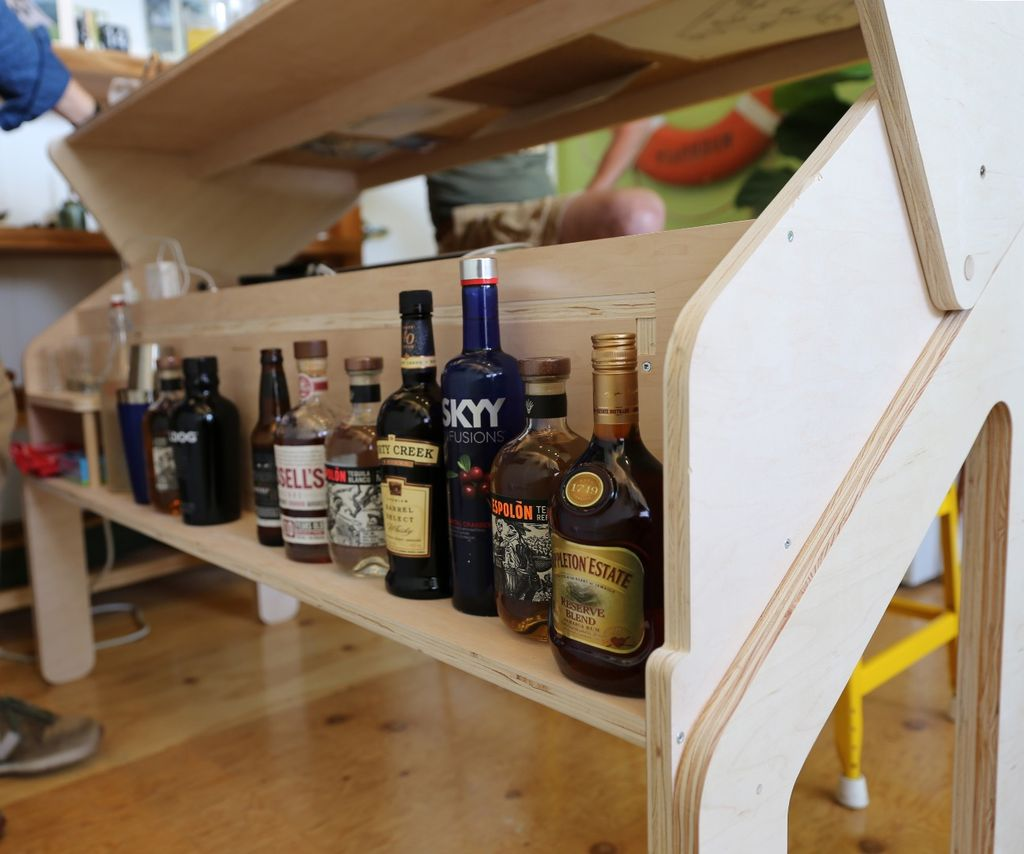 Build Your Own Transforming Bar Desk Living In A Shoebox