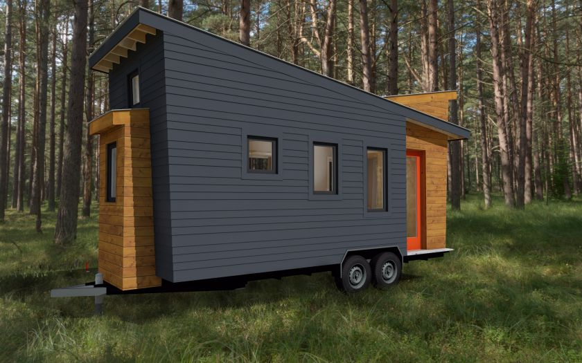 Tiny house plans released for the model stem n leaf that for Modern tiny house plans