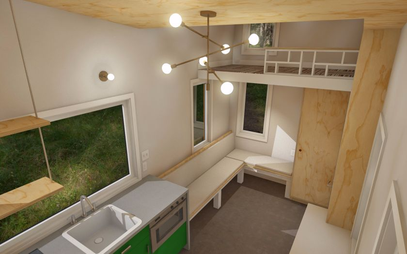 Tiny house plans released for the model STEM N LEAF that offers a