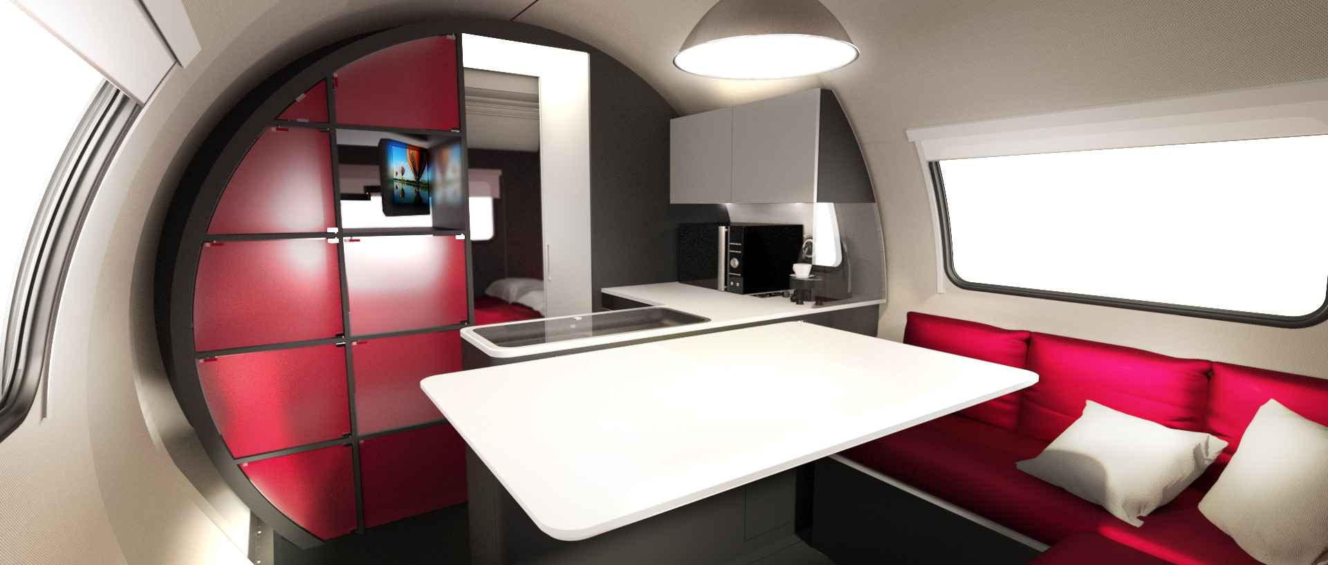 this micro camper triples its size in 25 seconds living in a shoebox. Black Bedroom Furniture Sets. Home Design Ideas