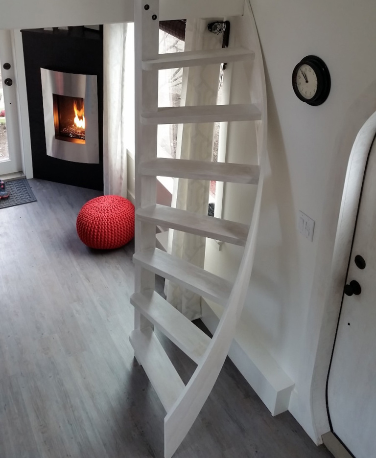 es1 - The Esk'et tiny house is a gorgeous work of art (and has a really cool spiral ladder)
