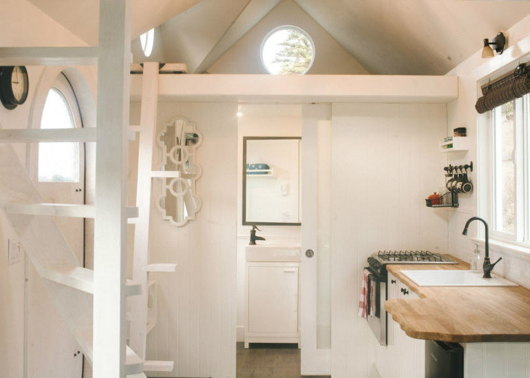 es4 - The Esk'et tiny house is a gorgeous work of art (and has a really cool spiral ladder)