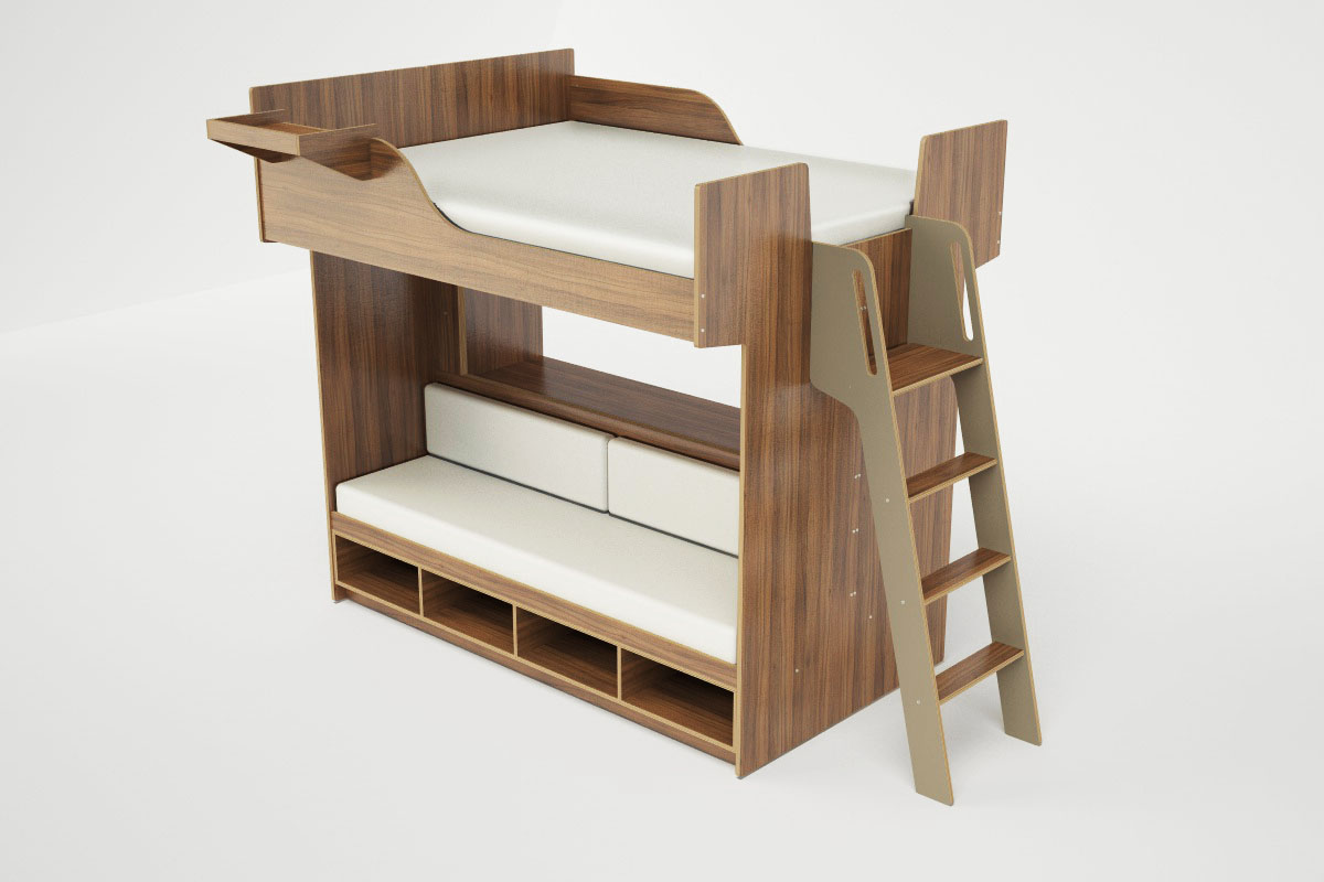 New loft bed collection for adults from casa collection for Loft furniture