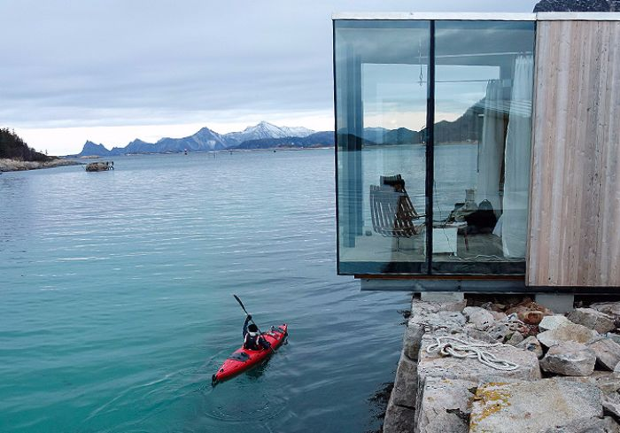 These Norwegian sea cabins offer a spectacular view ...