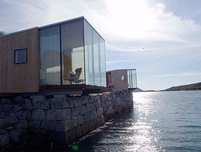 These norwegian sea cabins offer a spectacular view for Cabin by the sea