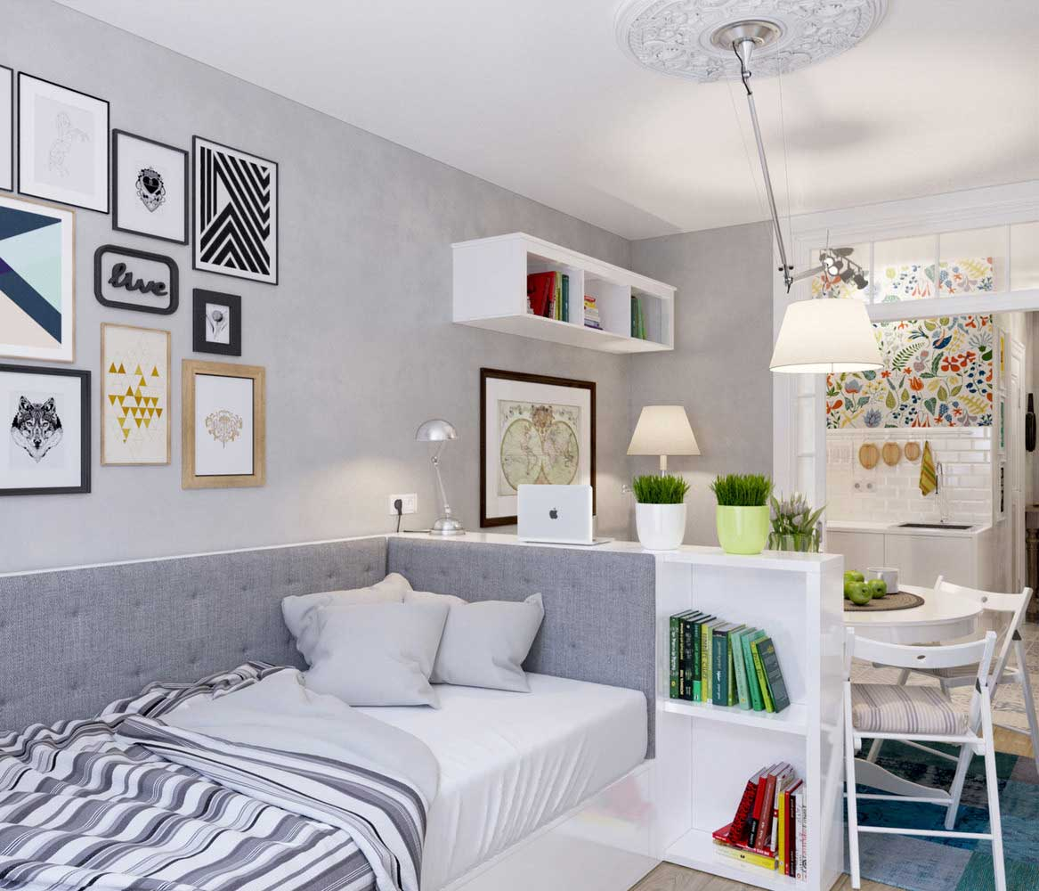 Studio Apartment Style this tiny studio apartment doesn't skimp on style - living in a