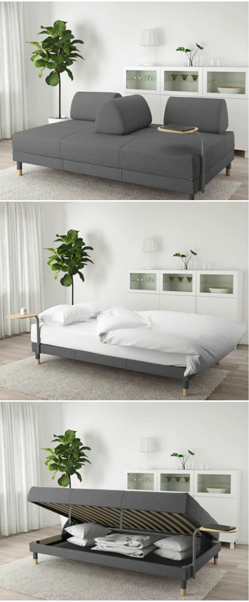 Fantastic Sofa Bed With Sidetable Living In A Shoebox Uwap Interior Chair Design Uwaporg