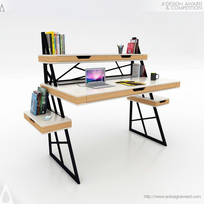 Combine Office Desk by Mehmet Lutfi Hidayetoglu