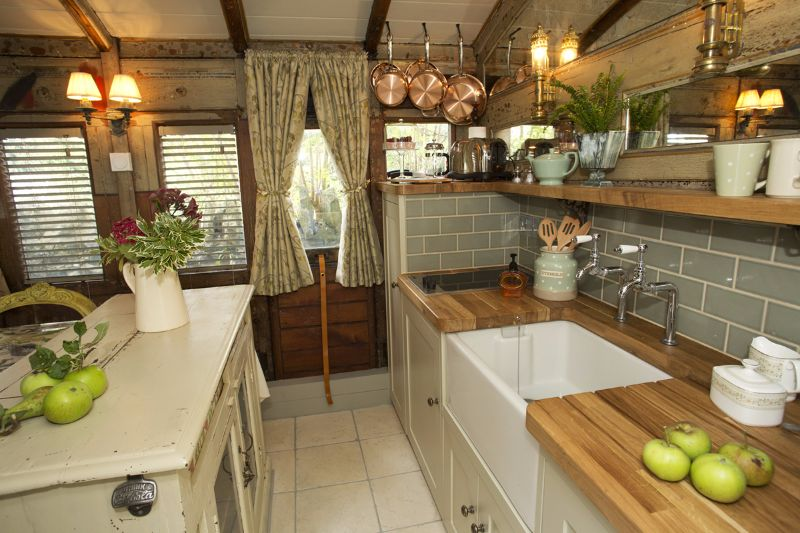 A Charming Victorian Railway Carriage Was Converted Into A