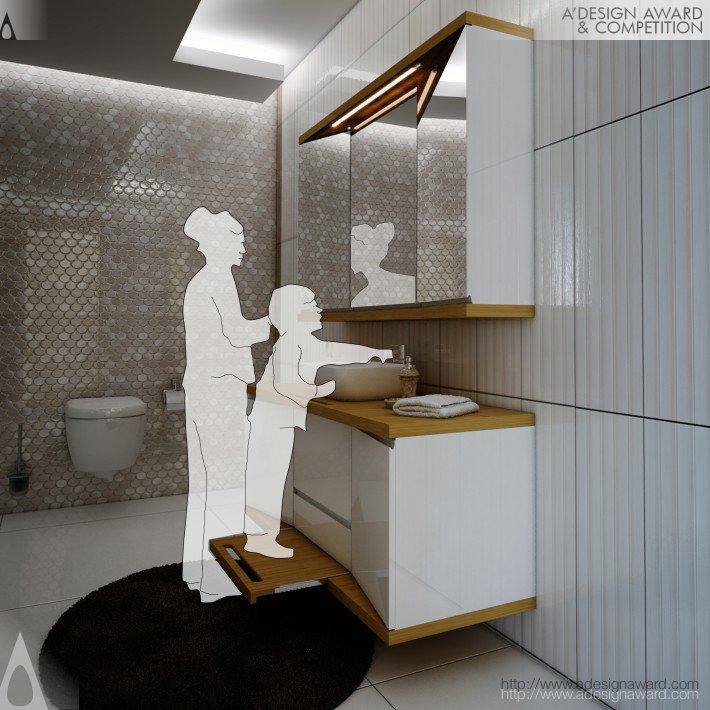 MYBath Bathroom Cabinet by Kemal Yıldırım