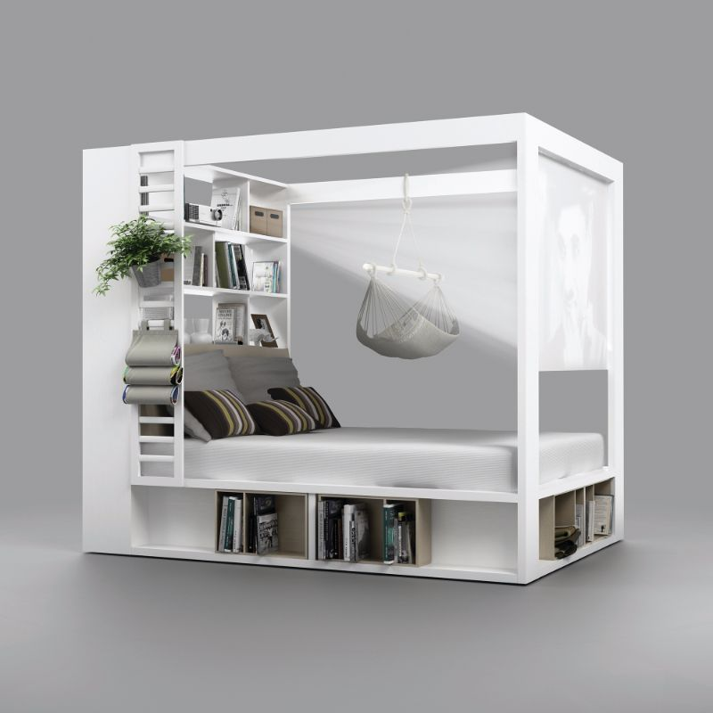 This cool storage bed can be turned into a home cinema for Cool beds for small bedrooms