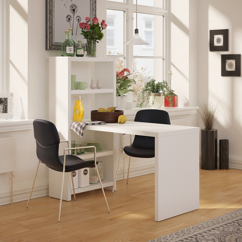 Dining Table With Storage 323 99 Equal Parts Fashion And Function The Offers Two Adjule Shelves For Decoration Or Organization