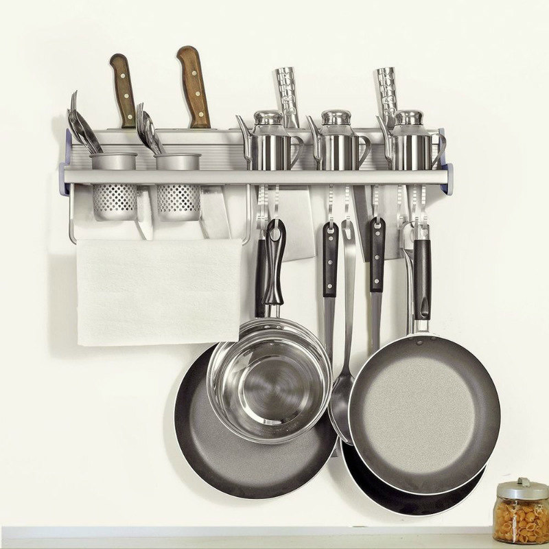 Kitchen Organizer Rack Part - 48: ... Plumeet-multifunctional-aluminum-wall-hanging-kitchen-rack-with-