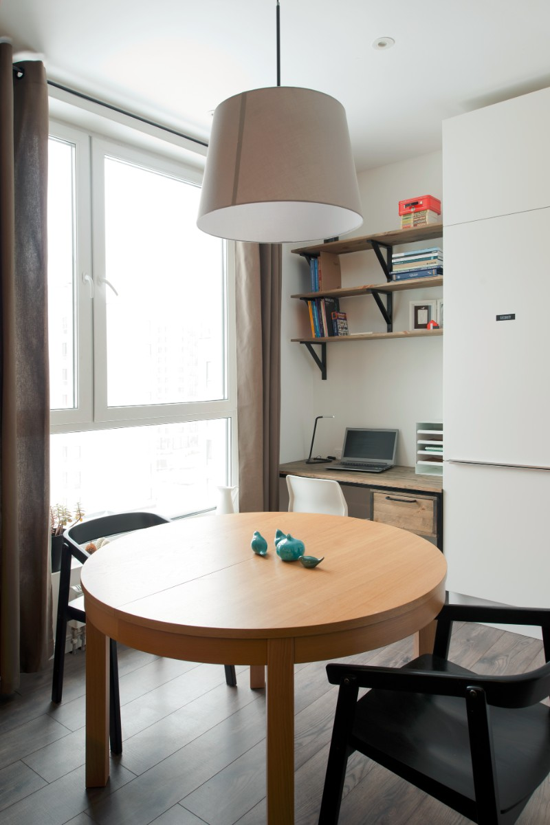 Studio Bazi small flat 12 - The designer's small studio apartment features an ingenious loft bed packed with storage