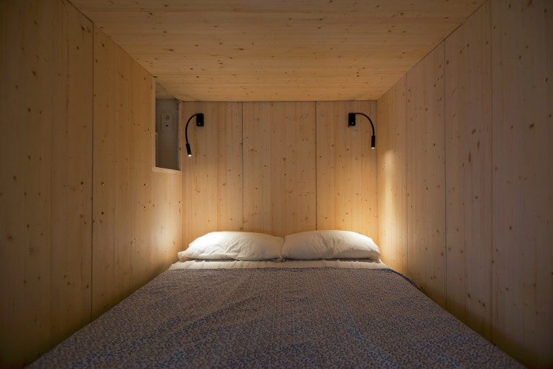 Studio Bazi small flat 7 - The designer's small studio apartment features an ingenious loft bed packed with storage