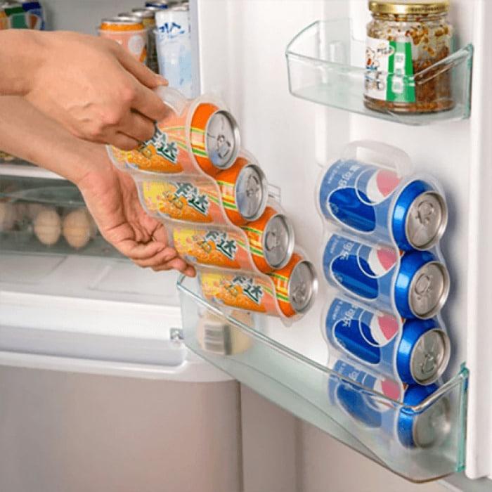 Space-saving Cans Refrigerator organizer
