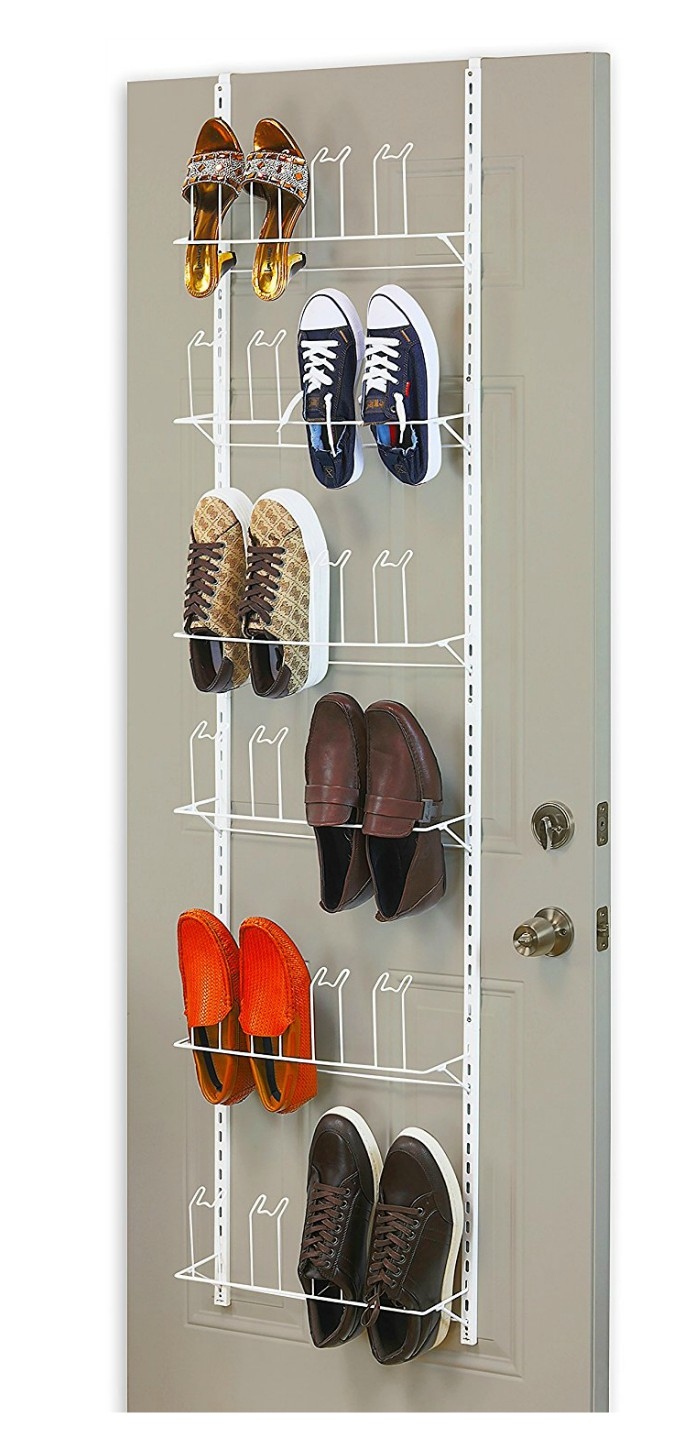over door shoe organizer 2 - Get your shoes and boots under control with these 12 storage ideas