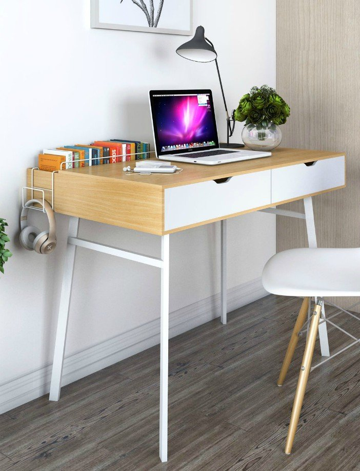 Lifewit Computer Desk PC Laptop Desk, Large Study Table, Modern Simple Writing Table for Home