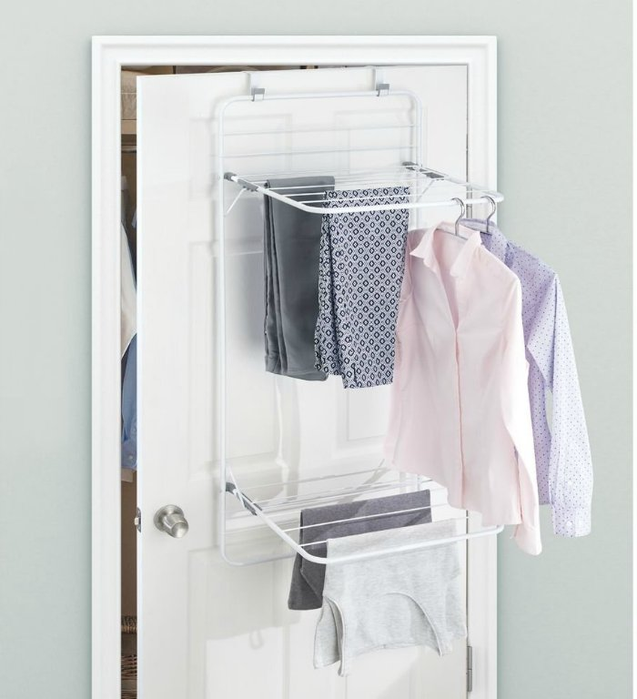 10 space-saving drying racks for small spaces