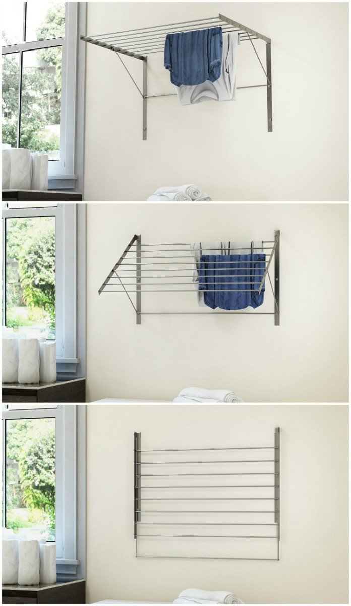 10 space saving drying racks for small spaces living in a shoebox. Black Bedroom Furniture Sets. Home Design Ideas