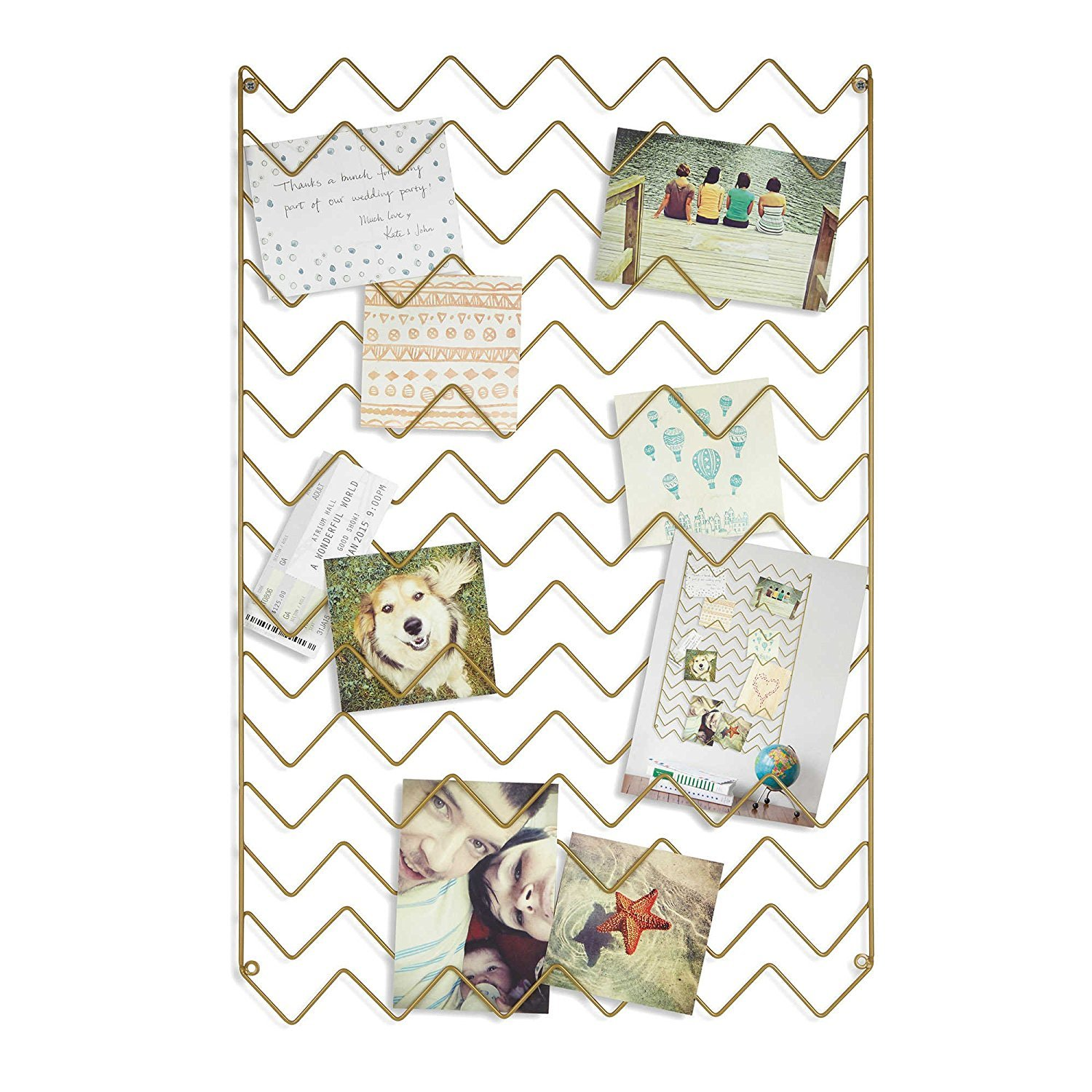 Umbra Zig Zag Photo Collage Display in Gold