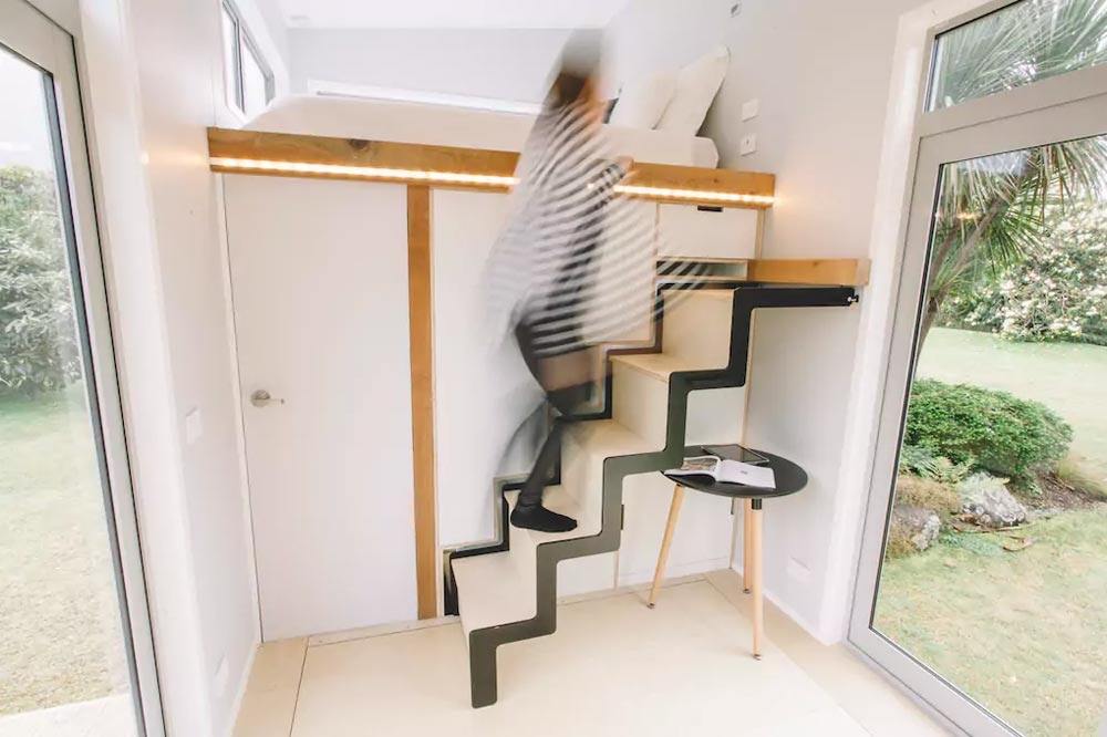 Beau The Space Saving Sliding Stairs Leading Up To The Loft Bed