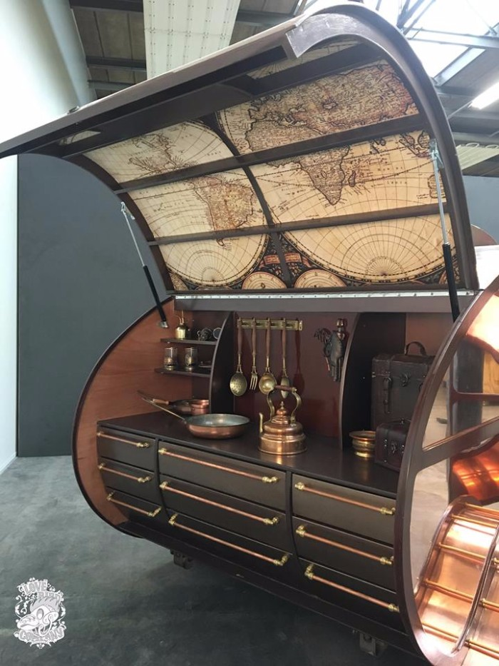 Spectacular Copper Clad Teardrop Trailer Takes Steampunk