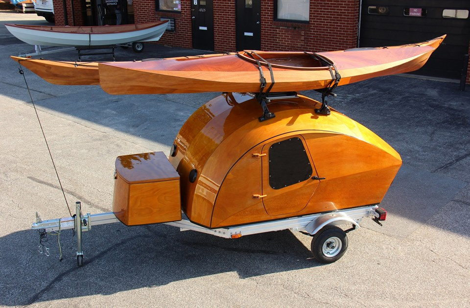 TeardropKayaks - This build-your-own teardrop camper kit takes its inspiration from boat-building techniques
