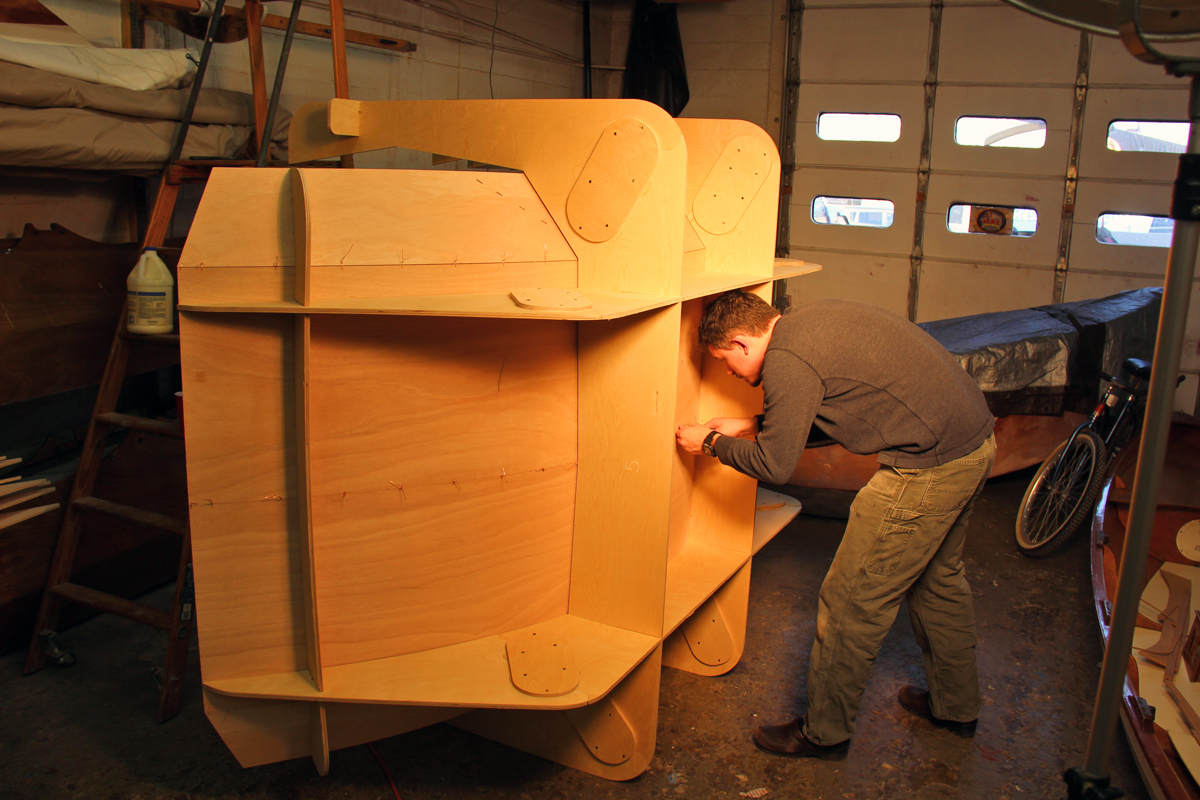 tdt 1 build stitching - This build-your-own teardrop camper kit takes its inspiration from boat-building techniques
