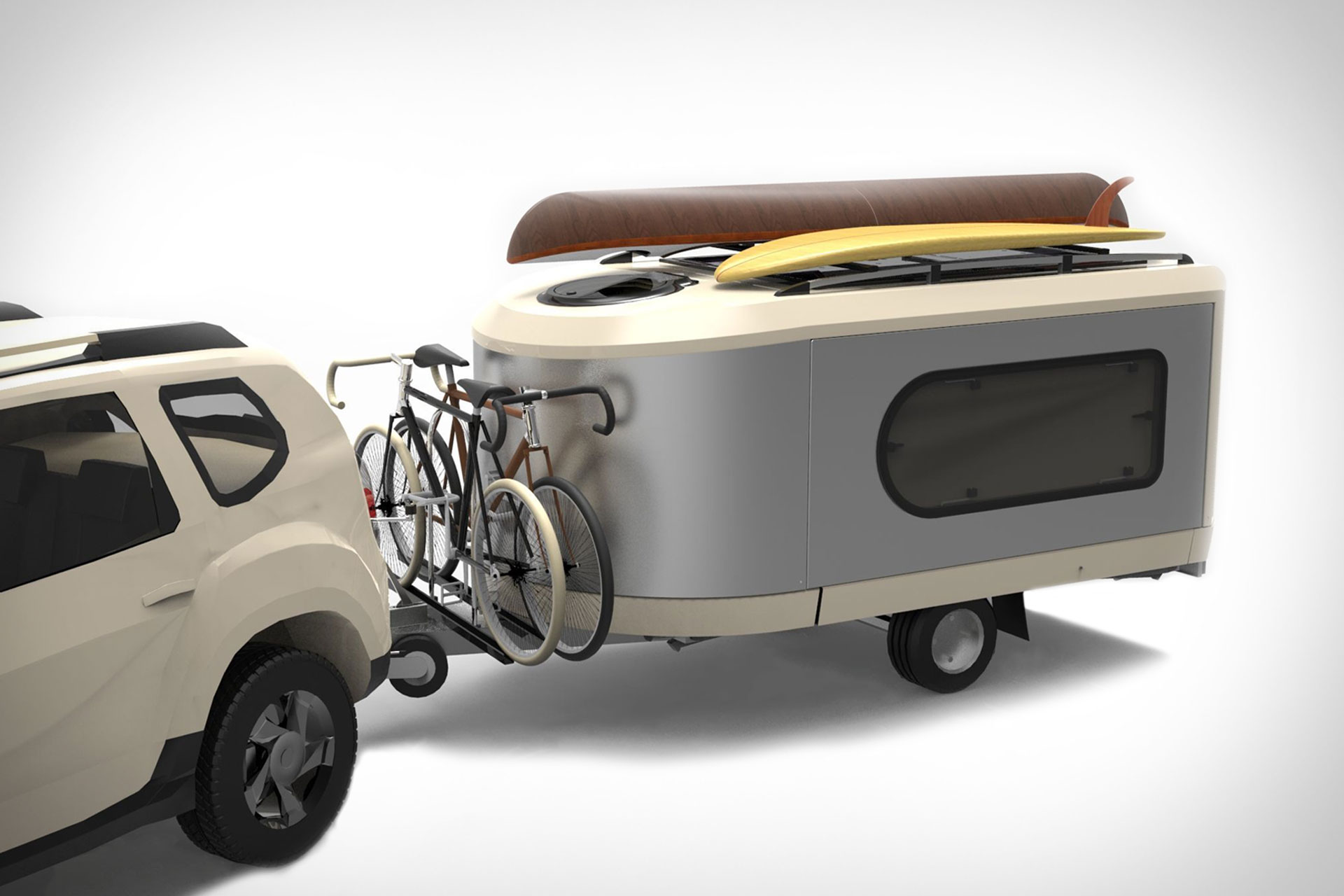 This Camper Pod Expands To Three Times Its Size Living