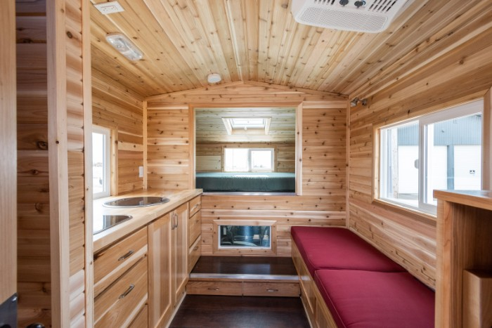 tiny traveler truck camper 2 - The Traveler is a truck camper with a rustic tiny house feel