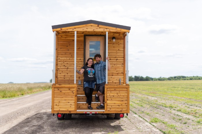 tiny traveler truck camper 9 - The Traveler is a truck camper with a rustic tiny house feel