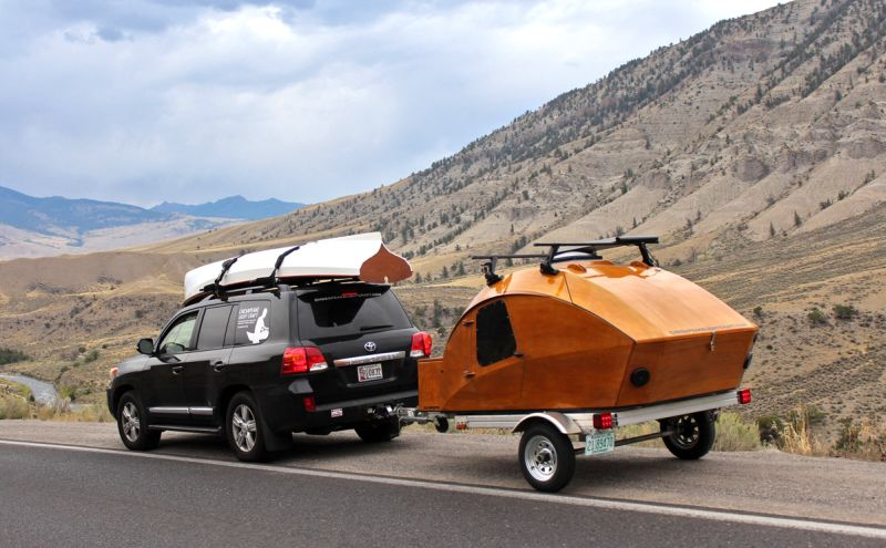 Build your own mobile camping pod with CLC Teardrop Camper kit 7 1 - This build-your-own teardrop camper kit takes its inspiration from boat-building techniques