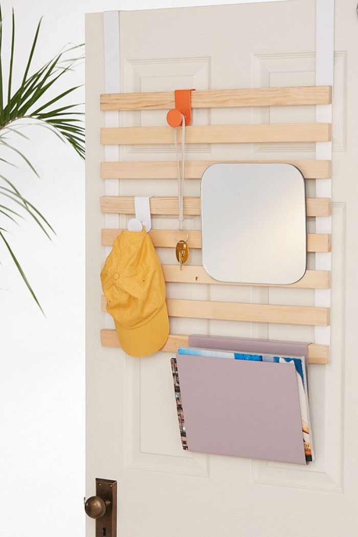 Multi Use Slatted Over The Door Storage Rack Living In A Shoebox