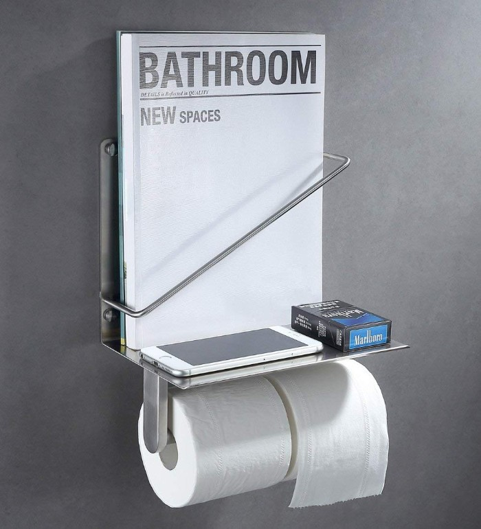 Toilet Paper Holder With Magazine Rack Living In A Shoebox