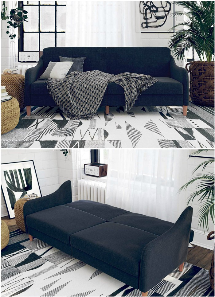Astonishing Navy Sleeper Sofa Living In A Shoebox Home Interior And Landscaping Dextoversignezvosmurscom