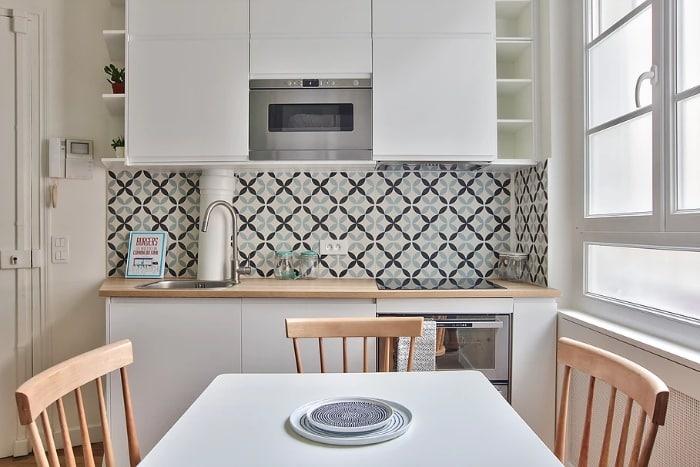nordican apartment 3 - 20 m2 Parisian studio apartment features soft tones and stunning mosaic tiles