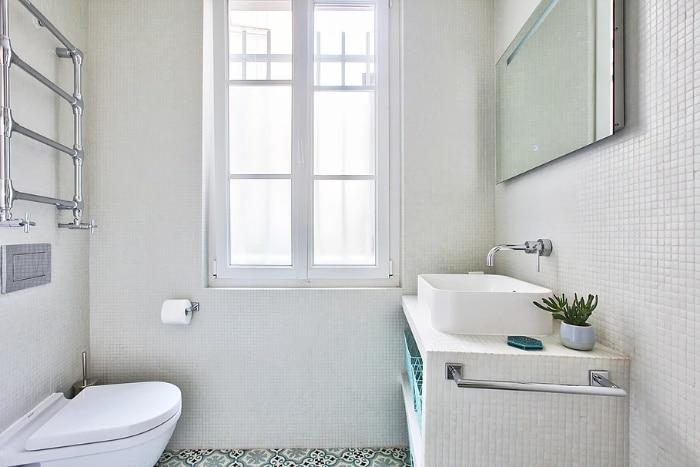 nordican apartment 7 - 20 m2 Parisian studio apartment features soft tones and stunning mosaic tiles