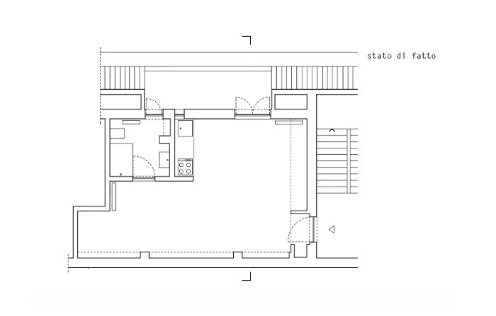 batidin flat 15 - The furniture is cleverly integrated in the walls in this 28 sqm micro-flat