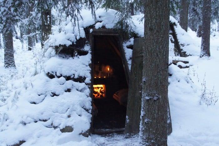 WildSweden Kolarbyn winter 01 - Sweden's most primitive hotel offers stays in charcoal burners' huts