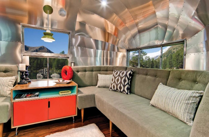 Western Pacific Airstream by Timeless Travel Trailers Living1 - Rare Airstream trailer gets a stunning mid-century style restoration