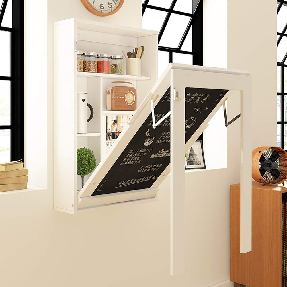 Small Apartment With Foldaway Features: Folding Table Fold Wall Mounted Table, Solid Wood Small