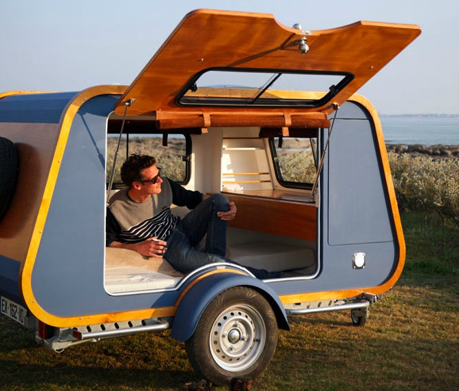 French Company Launches Teardrop Trailer With Ingenious Indoor