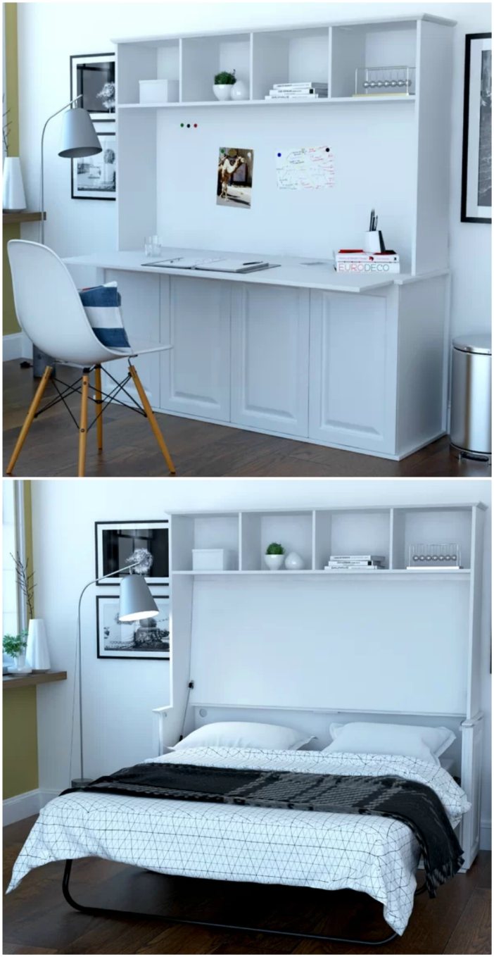 10 Murphy Beds That Convert Any Room To A Bedroom In